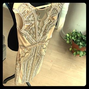 Perfect, nude sequins dress